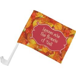 Fall Leaves Car Flag