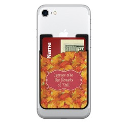 Fall Leaves Cell Phone Credit Card Holder
