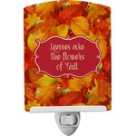 Fall Leaves Ceramic Night Light