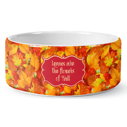 Fall Leaves Ceramic Pet Bowl