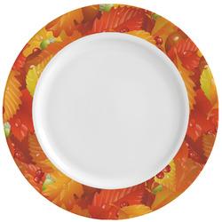 Fall Leaves Ceramic Dinner Plates (Set of 4)