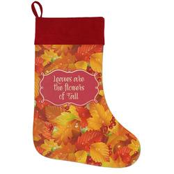 Fall Leaves Holiday / Christmas Stocking