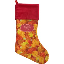 Fall Leaves Christmas Stocking