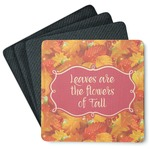 Fall Leaves 4 Square Coasters - Rubber Backed