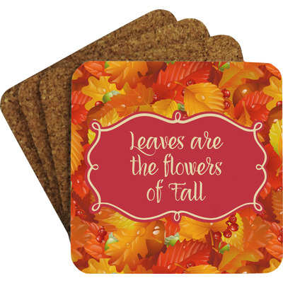 Fall Leaves Coaster Set w/ Stand