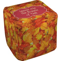 Fall Leaves Cube Pouf Ottoman