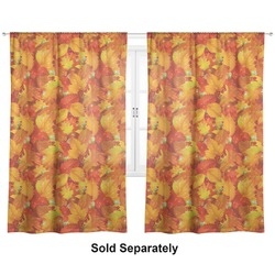 "Fall Leaves Curtains - 40""x63"" Panels - Lined (2 Panels Per Set)"