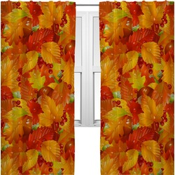 Fall Leaves Curtains (2 Panels Per Set)