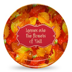 Fall Leaves Microwave Safe Plastic Plate - Composite Polymer