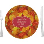 "Fall Leaves 10"" Glass Lunch / Dinner Plates - Single or Set"