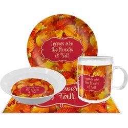 Fall Leaves Dinner Set - 4 Pc