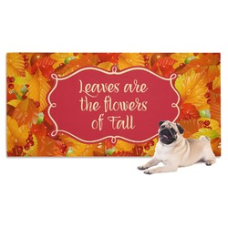 Fall Leaves Dog Towel