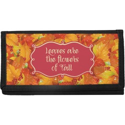 Fall Leaves Canvas Checkbook Cover