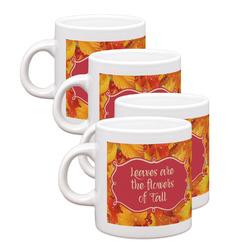 Fall Leaves Espresso Mugs - Set of 4