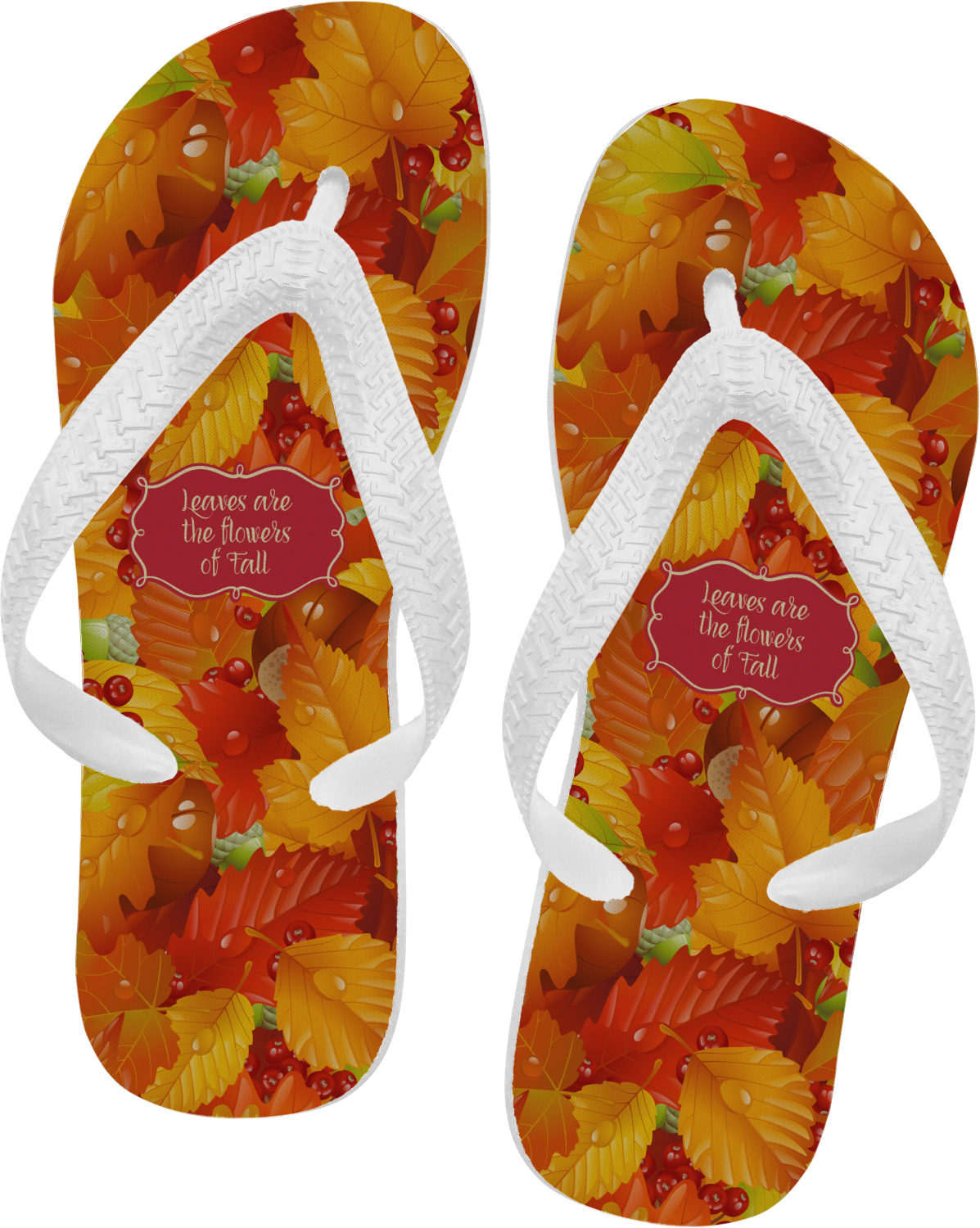 fall leaves flip flops xsmall rnk shops. Black Bedroom Furniture Sets. Home Design Ideas