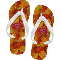 Fall Leaves Flip Flops