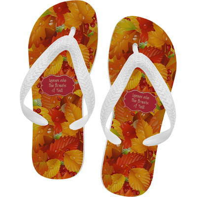 fall leaves flip flops xsmall youcustomizeit. Black Bedroom Furniture Sets. Home Design Ideas