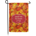 Fall Leaves Garden Flag - Single or Double Sided