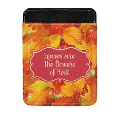 Fall Leaves Genuine Leather Money Clip