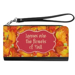 Fall Leaves Genuine Leather Smartphone Wrist Wallet