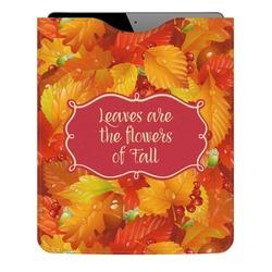 Fall Leaves Genuine Leather iPad Sleeve