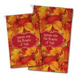 Fall Leaves Golf Towel - Full Print