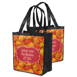 Fall Leaves Grocery Bag
