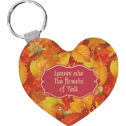 Fall Leaves Heart Keychain