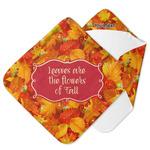 Fall Leaves Hooded Baby Towel
