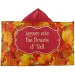 Fall Leaves Kids Hooded Towel