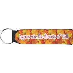 Fall Leaves Neoprene Keychain Fob