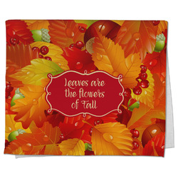 Fall Leaves Kitchen Towel - Full Print