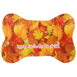 Fall Leaves Bone Shaped Dog Food Mat