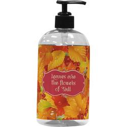 Fall Leaves Plastic Soap / Lotion Dispenser (16 oz - Large)