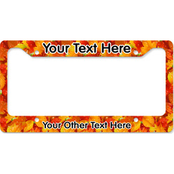 Fall Leaves License Plate Frame