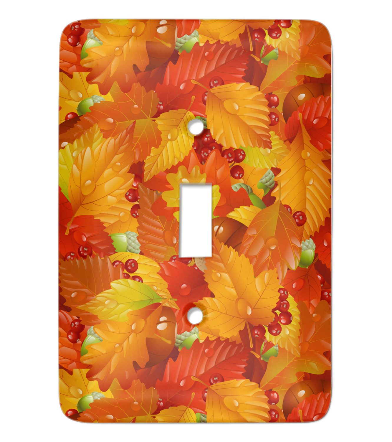 Fall Leaves Light Switch Cover Single Toggle Youcustomizeit