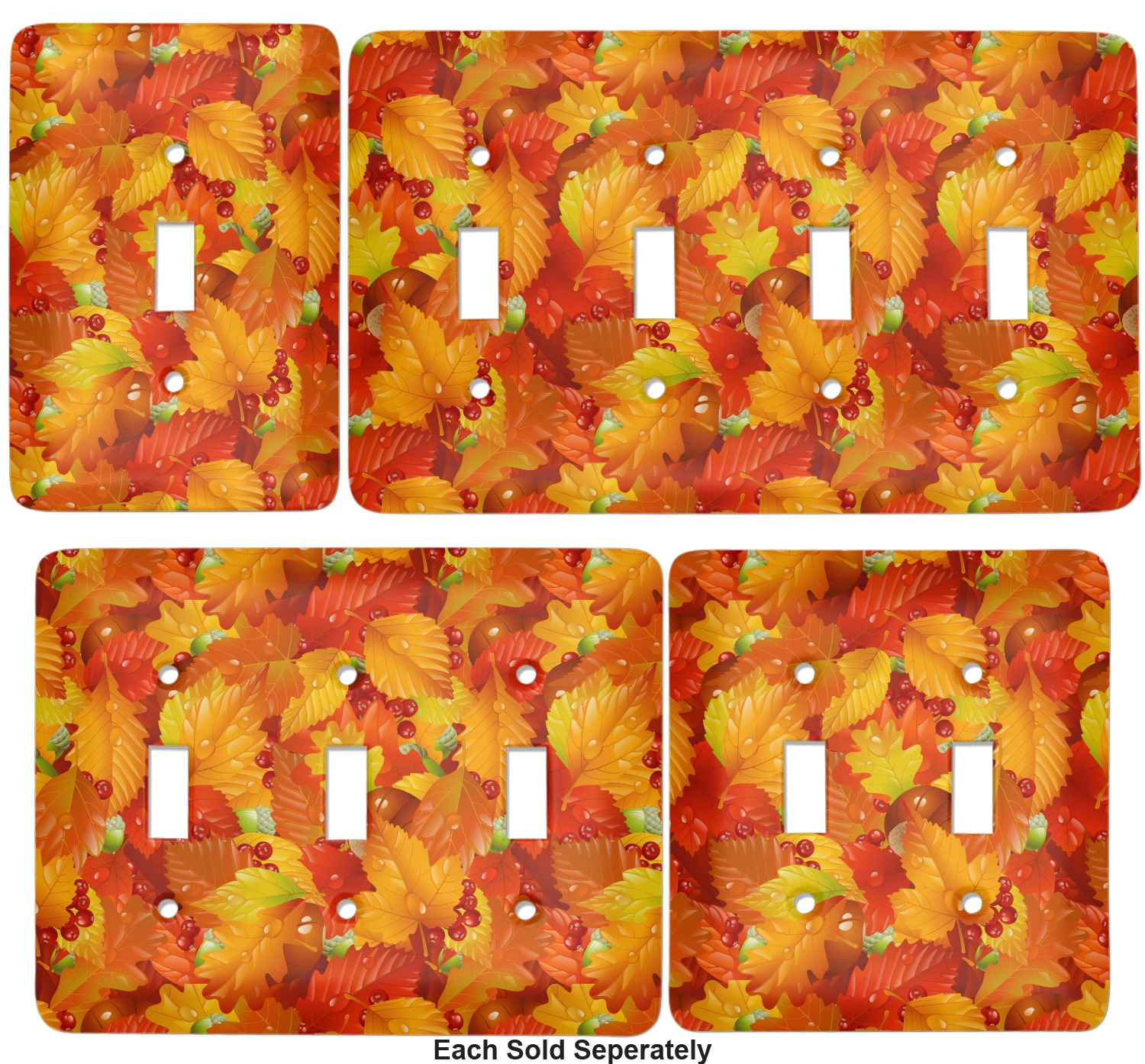 Fall Leaves Light Switch Cover 2 Toggle Plate Youcustomizeit