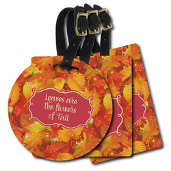 Fall Leaves Plastic Luggage Tags