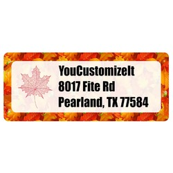 Fall Leaves Return Address Labels