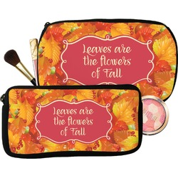Fall Leaves Makeup / Cosmetic Bag