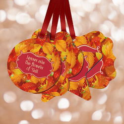 Fall Leaves Metal Ornaments - Double Sided