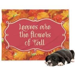 Fall Leaves Minky Dog Blanket - Large
