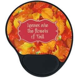 Fall Leaves Mouse Pad with Wrist Support