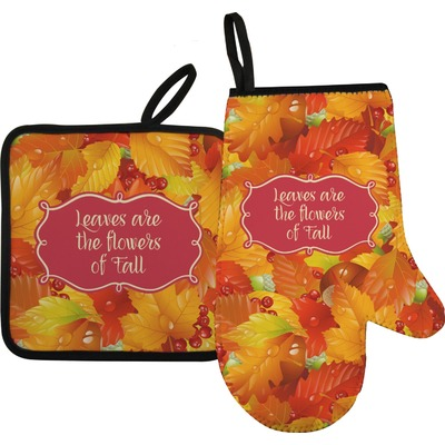 Fall Leaves Oven Mitt & Pot Holder