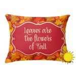 Fall Leaves Outdoor Throw Pillow (Rectangular)