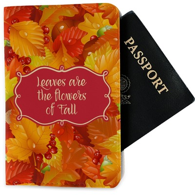 Fall Leaves Passport Holder - Fabric