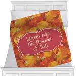 Fall Leaves Minky Blanket