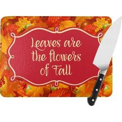 Fall Leaves Rectangular Glass Cutting Board