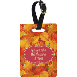 Fall Leaves Rectangular Luggage Tag