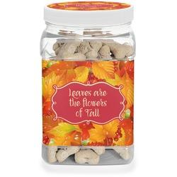 Fall Leaves Pet Treat Jar